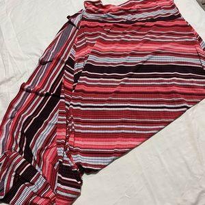 Striped Lularoe Maxi Skirt